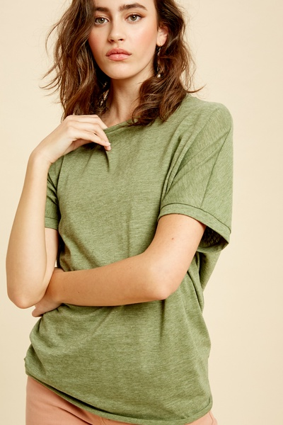 SHORT SLEEVES TIE BACK T-SHIRTS TOP