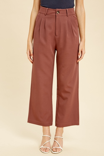 TEXTURED POLYESTER CULOTTES